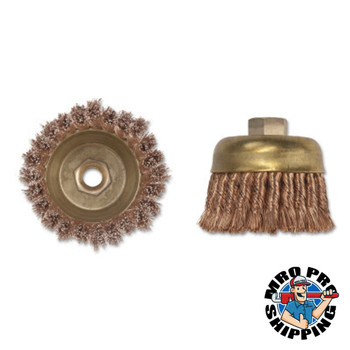 Ampco Safety Tools Knot Wire Cup Brush, 3 in Dia., 5/8-11 Arbor, .02 in Wire (1 EA/EA)