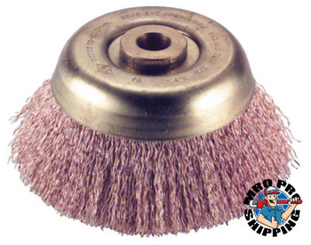 Ampco Safety Tools Crimped Wire Cup Brush, 6 in Dia., .02 in Wire (1 EA/EA)