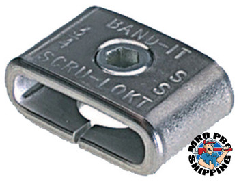 Band-It Scru-Lokt Buckles, 1/4 in, Stainless Steel 301, 50 per pack (50 BOX/ST)