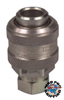 Alemite Extra Heavy Duty Air & Water Fittings, Straight, Male/Female, 1/4 in (NPTF) (1 EA/EA)