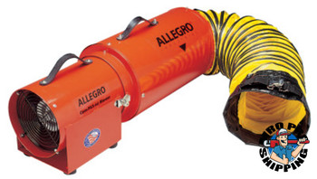 Allegro AC Com-Pax-Ial Blowers w/Canister, 1/3 hp, 115 V, 15 ft. Ducting (1 EA/EA)