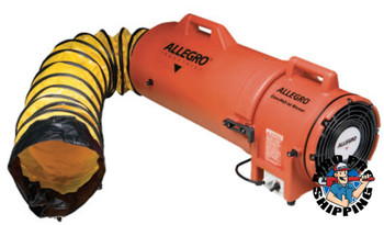 Allegro Plastic Com-Pax-Ial Blowers w/Canisters, 1/4 hp, 12 VDC, 25 ft. Ducting (1 EA/SET)