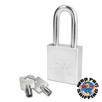American Lock Steel Padlocks (Square Body w/Tubular Cylinder), 3/8 in Diam., 2 in Long (6 BOX/EA)