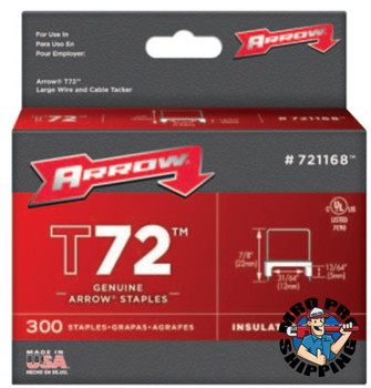 Arrow Fastener T72 Type Staples, 13/64 in L x 13/64 in W, 300 per box (1 EA/EA)