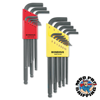 Bondhus Balldriver L-Wrench Combination Sets, 22 per pack, Hex Ball Tip, Inch/Metric (1 ST)