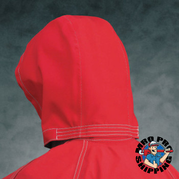 Ansell Sawyer-Tower CPC Polyester Three Piece Hood, Red, One Size (1 EA/EA)