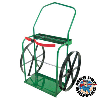 """Anthony High-Rail Frame Dual-Cylinder Carts, For 9.5""""-13.5"""" Cylinders, 24"""" Steel Wheels (1 EA/EA)"""