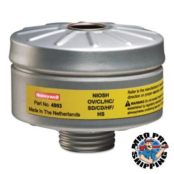 Honeywell Compact Air 200 Series PAPR Organic Vapor Cartridges, Acid Gas; Formaldehyde (4 CA/EA)