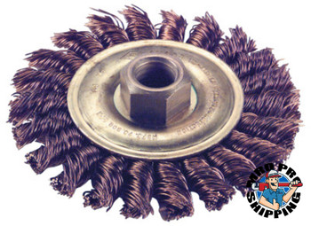 Ampco Safety Tools Knot Wire Wheel Brush, 6 in D x 1/2 in W, .02 in 9,000 rpm (1 EA/EA)