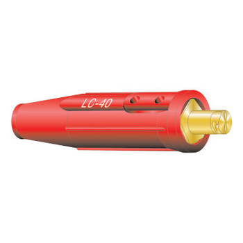 Lenco Cable Connector, Single Oval-Point Screw Connection, Male, 1/0-2/0 Cap., Red (1 EA/EA)
