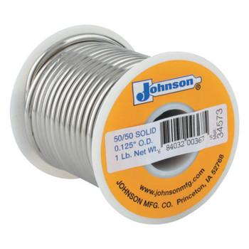 J.W. Harris Wire Solders, Spool, Solid Core, 1/8 in, 40% Tin, 60% Lead (1 LB/EA)