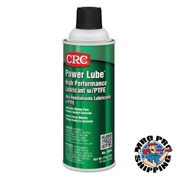 CRC Power Lube High-Performance Lubricants with PTFE, 11 oz, Aerosol Can (12 CAN)