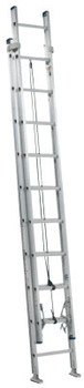 Louisville Ladder AE2000 Series Louisville Colonel Aluminum Extension Ladders, 20 ft, IA, 300 lb (1 EA/EA)