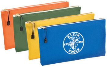 Klein Tools Canvas Zipper Bag Assortments, 12 1/2 in X 7 in, 4 per Pack (1 PK/EA)