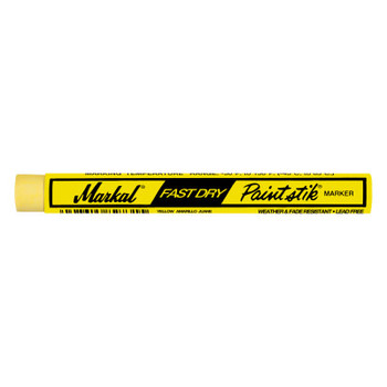 Markal Paintstik Fast Dry Markers, 3/8 in, Yellow (1 MKR/EA)