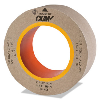 "CGW Abrasives Centerless Grinding Wheels, Aluminum Oxide, Type 5, 14 X 1 1/4, 5"" Arbor, 60, L (1 EA/EA)"