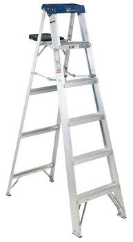 Louisville Ladder AS3000 Series Sentry Aluminum Step Ladder, 8 ft x 24 1/2 in, 250 lb Capacity (1 EA/PK)