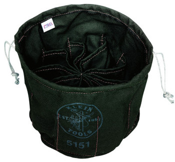 Klein Tools Ten-Compartment Drawstring Bags, 10 Compartments (1 EA/EA)