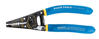 Klein Tools Kurve Wire Strippers/Cutters, 10-18 AWG Solid; 12-20 AWG Stranded, Blue/Yellow (1 EA/KT)