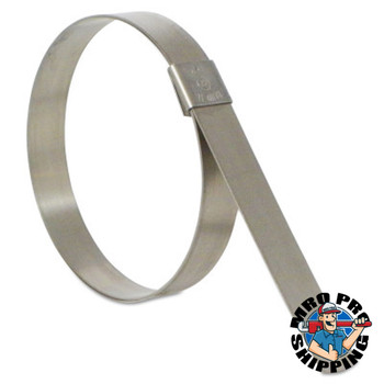 Band-It CP Series Center Punch Clamps, 2 1/2 in Dia, 5/8 in Wide, Stainless Steel 201 (50 BX/EA)