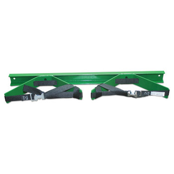 Saf-T-Cart Wall Brackets, Cylinder Bracket, Steel, 28 in x 6 in x 3 in, Green (1 EA/EA)