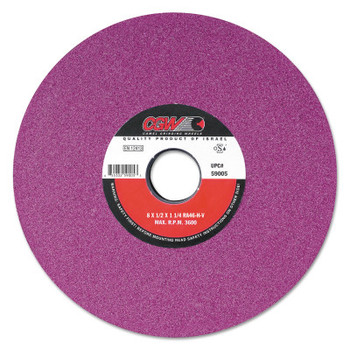 "CGW Abrasives Ruby Surface Grinding Wheels, R/1-3 x 1/2,, 8 X 1, 1 1/4"" Arbor, 46, J (1 EA/EA)"