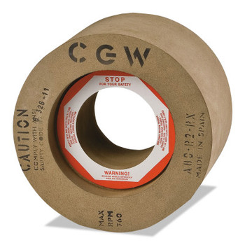 "CGW Abrasives Rubber Feed Regulating Wheels, Type 5, 8 X 4, 3"" Arbor (1 EA/EA)"