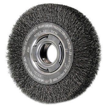 Advance Brush Wide Face Crimped Wire Wheel Brush, 6 D x 1 1/8 W, .014 Carbon Wire, 6,000 rpm (1 EA/EA)