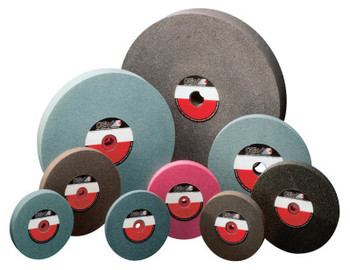 "CGW Abrasives Bench Wheels, Brown Alum Oxide, Single Pack, Type 1, 8 X 1, 1"" Arbor, 60, M (1 EA/EA)"
