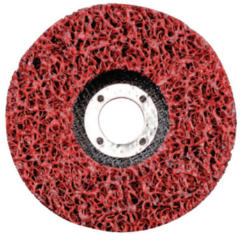 CGW Abrasives EZ Strip Wheels, Non-Woven, 7 X 5/8, Silicon Carbide, Red (10 EA/EA)