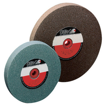 "CGW Abrasives Bench Wheels, Green Silicon Carbide, Single, Type 1, 14 X 2, 1 1/2"" Arbor, 80, I (1 EA/EA)"