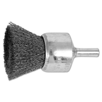 "Advance Brush Standard Duty Crimped End Brushes, Carbon Steel, 20,000 rpm, 1"" x 0.006"" (1 EA/EA)"