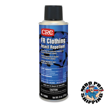 CRC FR Clothing Insect Repellents, 6 oz Aerosol Can, 12/case (12 CN)