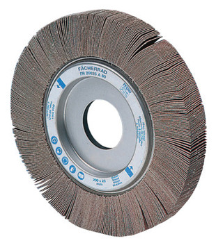 Pferd Arbor Hole Flap Wheels, 4 in x 1 in, 80 Grit, 9,500 rpm (2 BX/EA)