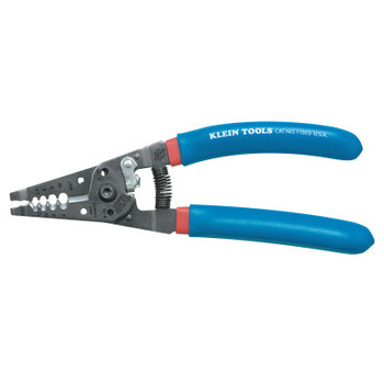 Klein Tools Klein-Kurve Wire Strippers/Cutters, 6-12 AWG Stranded Wire, Blue/Red (1 EA/EA)