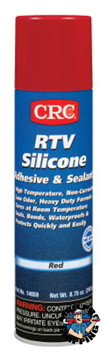 CRC RTV Silicone Adhesive/Sealants, 8 oz Pressurized Tube, Red (12 CAN)