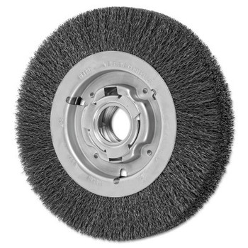 Advance Brush Wide Face Crimped Wire Wheel Brush, 8 D x 1 5/8 W, .014 Carbon Wire, 4,500 rpm (1 EA/EA)