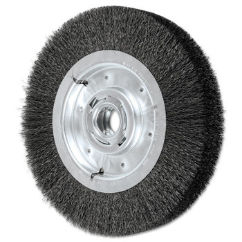 Advance Brush Wide Face Crimped Wire Wheel Brush, 10 D x 2 1/8 W, .012 Carbon Steel, 3,600 rpm (1 EA/EA)