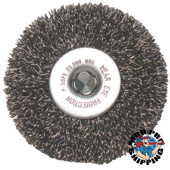 Anchor Products Crimped Wheel Brush, 3 in D, .008 in Carbon Steel Wire (1 EA/SET)