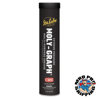CRC Extreme Pressure Moly-GraphMulti-Purpose Grease, 14 oz Cartridge (10 CTG)