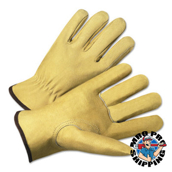Anchor Products 4000 Series Driver Gloves, Premium Grain Pigskin, Small, Unlined, Beige (120 CA/SET)