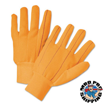 Anchor Products 1000 Series Canvas Gloves, Large, Orange, Knit-Wrist Cuff (12 DOZ/EA)