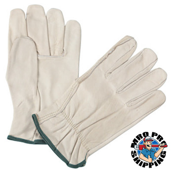 Anchor Products 4000 Series Driver Gloves, Cowhide, Medium, Unlined, Natural (12 PR/EA)