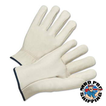 Anchor Products 4000 Series Driver Gloves, Cowhide, X-Small, Unlined, Natural (12 PR/EA)