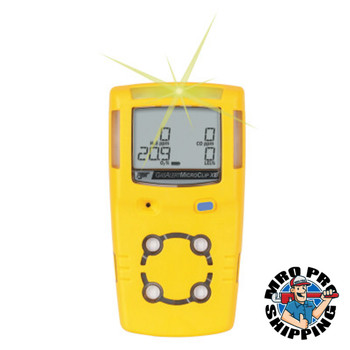 Honeywell BW Gas Alert MicroClip Multi-Gas Detectors, LEL; O2; CO; H2S, Electrochemical (1 EA)
