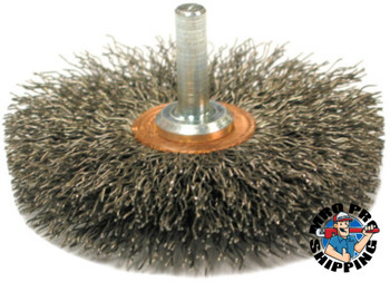"Anderson Brush Crimped Wire Wheels-SSM Series, Stainless Steel, 20,000 rpm, 3"" x 0.014"" (1 EA/EA)"