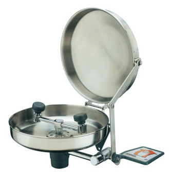 Guardian Wall Mounted Eye Washes, 11 1/2 in, Stainless Steel with Cover (1 EA/EA)