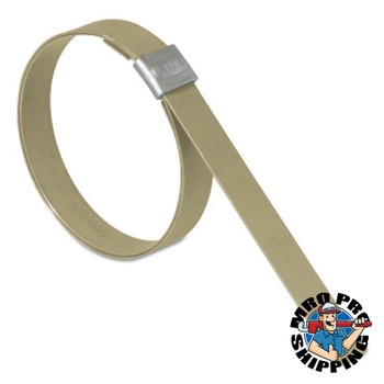 Band-It Junior Smooth I.D. Clamps, 4 in Dia, 3/4 in Wide, Galvanized Carbon Steel (25 BX/EA)