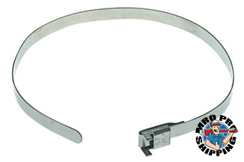 "Band-It Free-End Clamps, 27"" Long, 1/4""W, Stainless Steel 201, 100/Bx (100 BOX/BAG)"