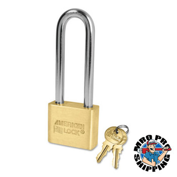 American Lock Brass Bodied Padlocks (Blade Cylinder), 5/16 in Diam., 3 in Long (6 BOX/EA)